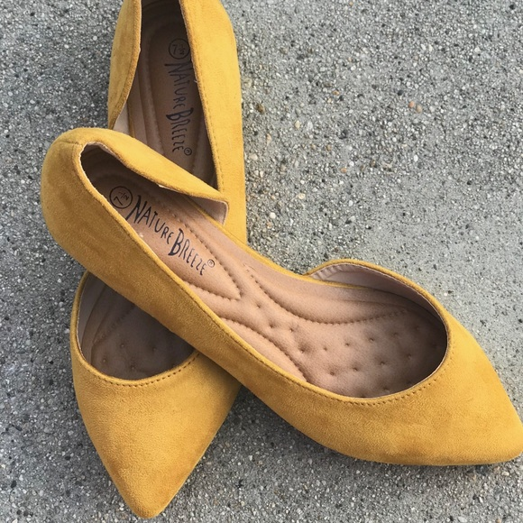 Mustard Yellow Pointed Toe Flat